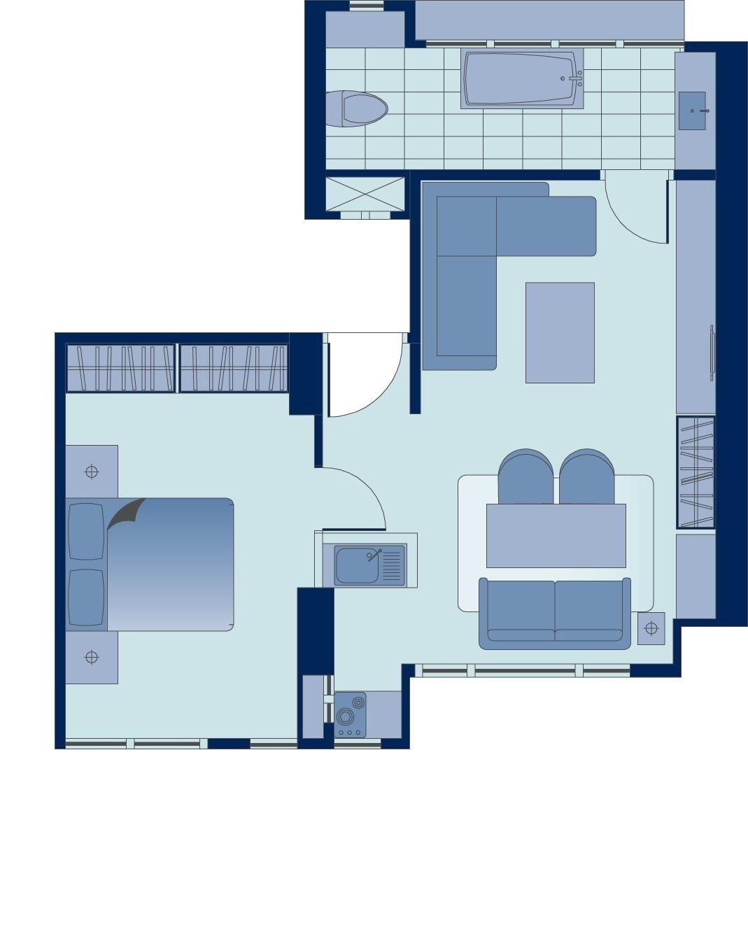 Floor plan 5 at Peel Street Central Apartments