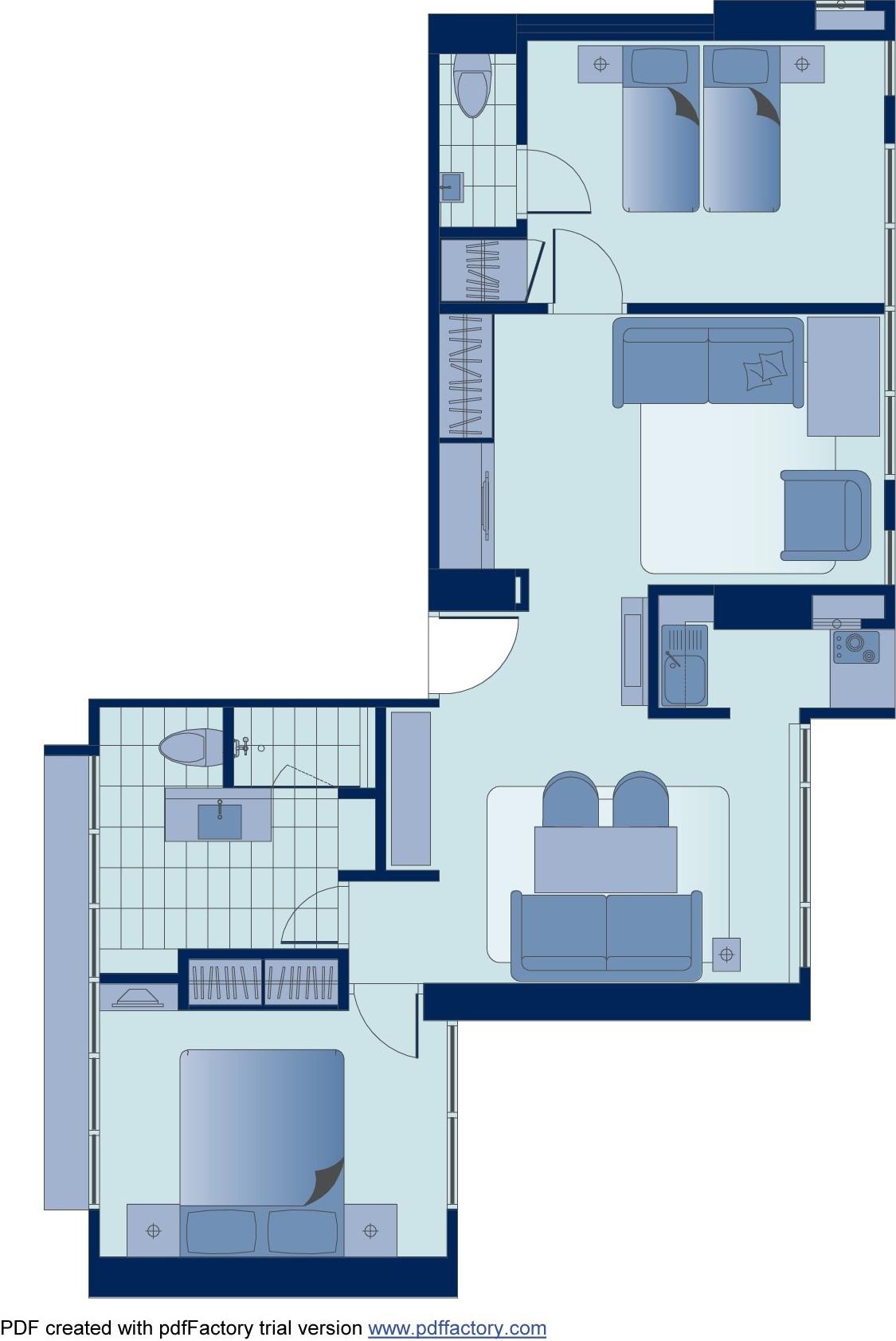 Floor plan 2 at Peel Street Central Apartments