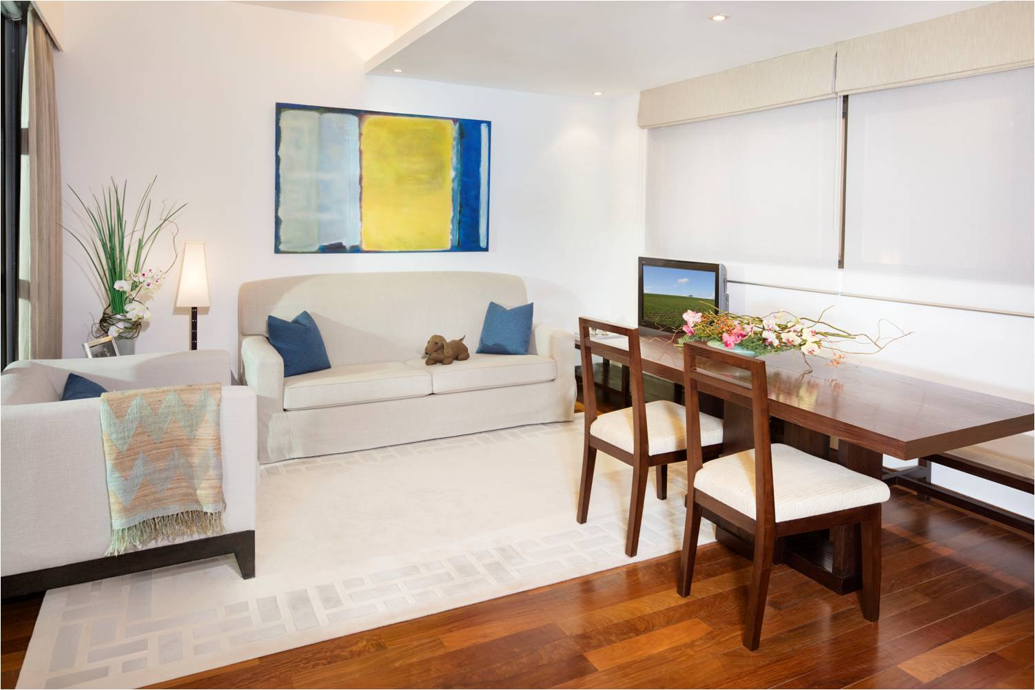Stylish living area at Peel Street Central Apartments