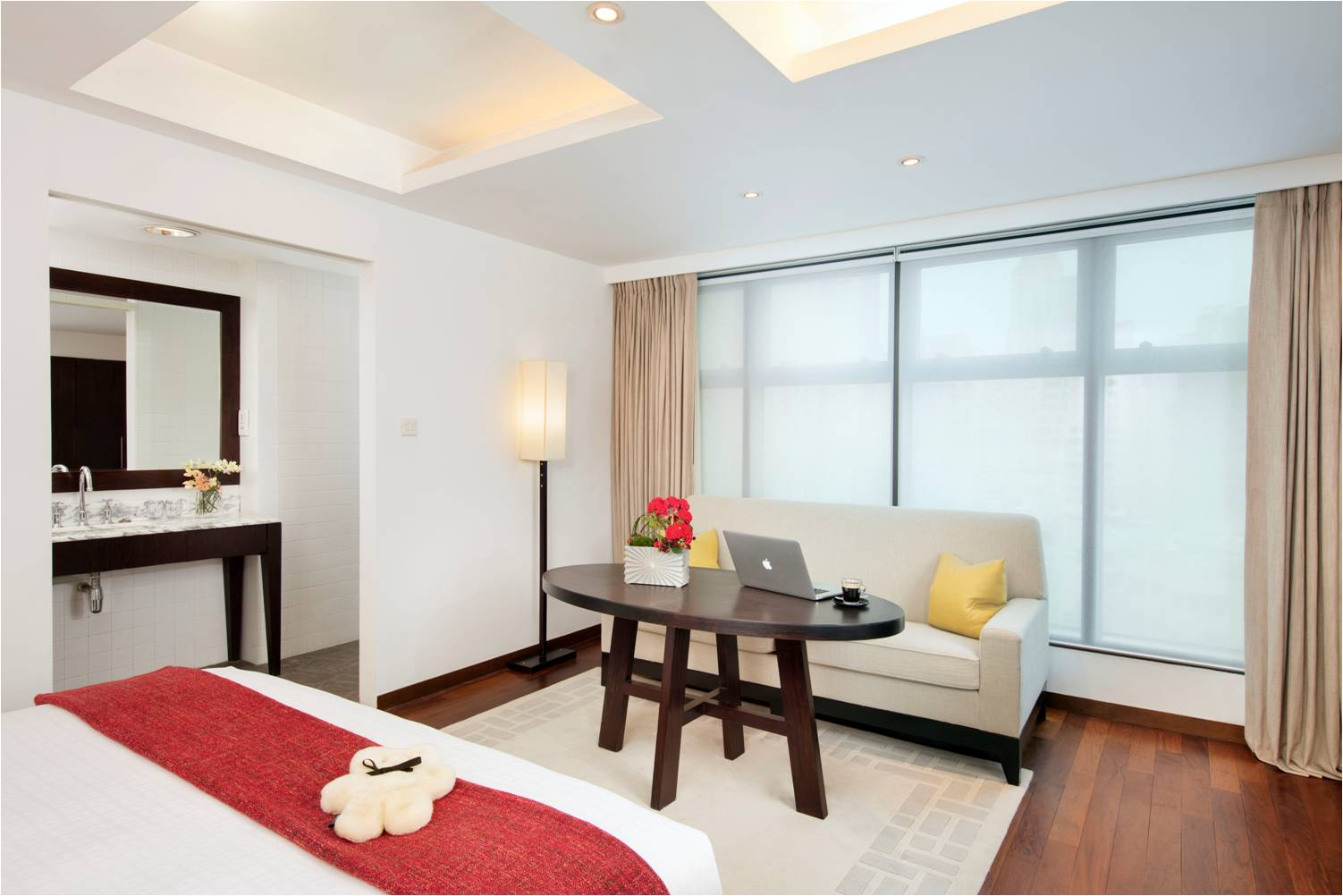 Large bedroom at Peel Street Central Apartments