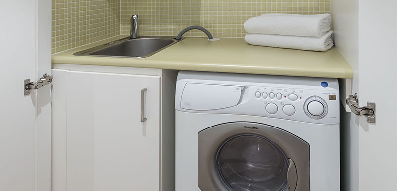 Laundry facilities at Oaks Glenelg Liberty Suites