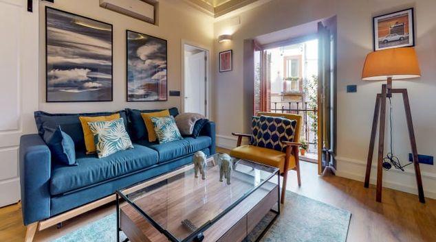 Living room at Conde De Torrejon 11 Apartment