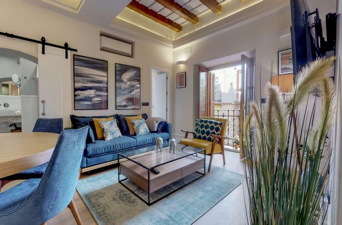 Stylish living area at Conde De Torrejon 11 Apartment
