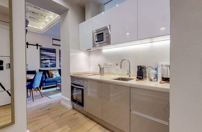 Modern kitchen at Conde De Torrejon 11 Apartment