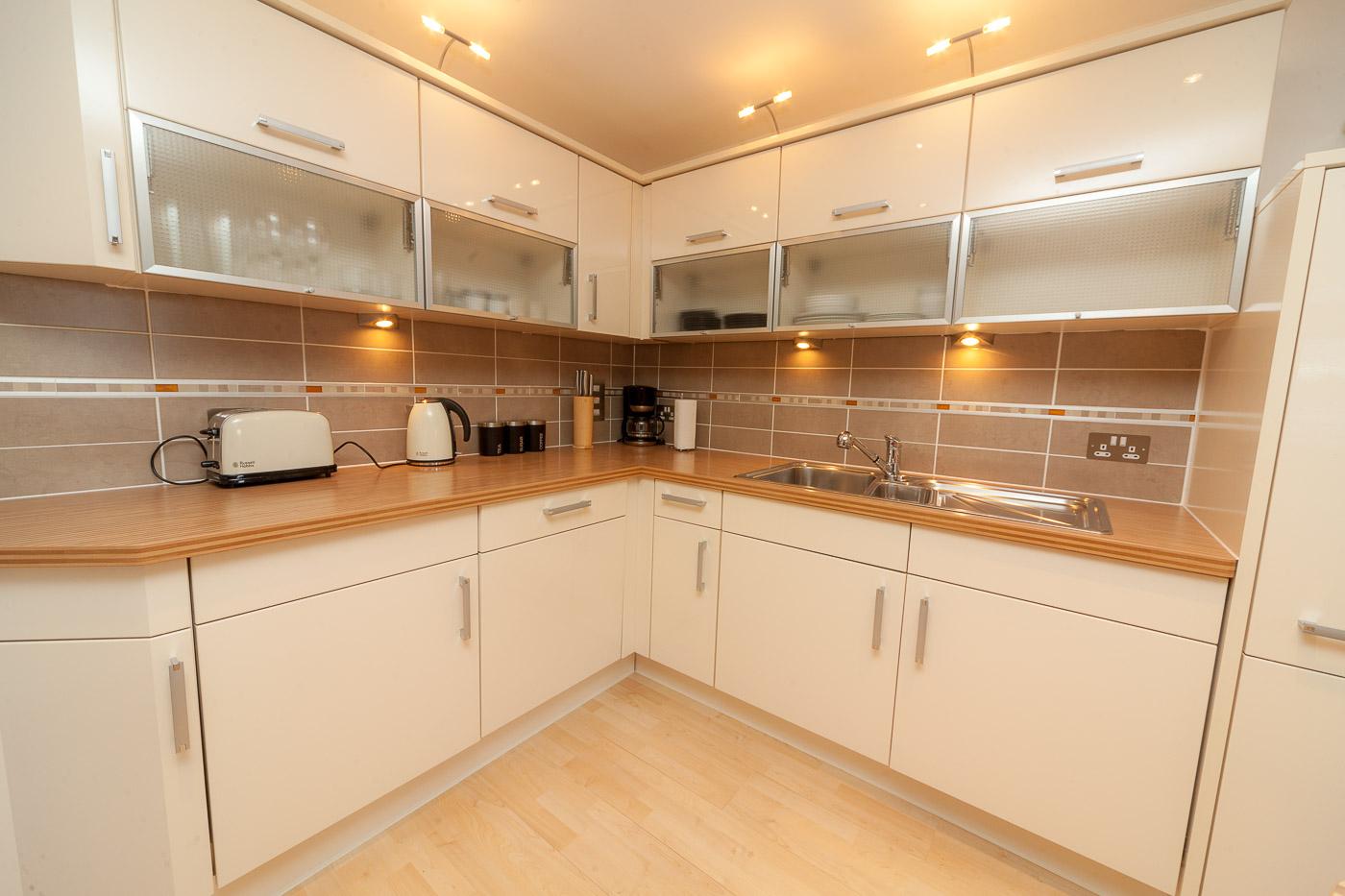 Kitchen at Queens Highlands Aberdeen Apartment