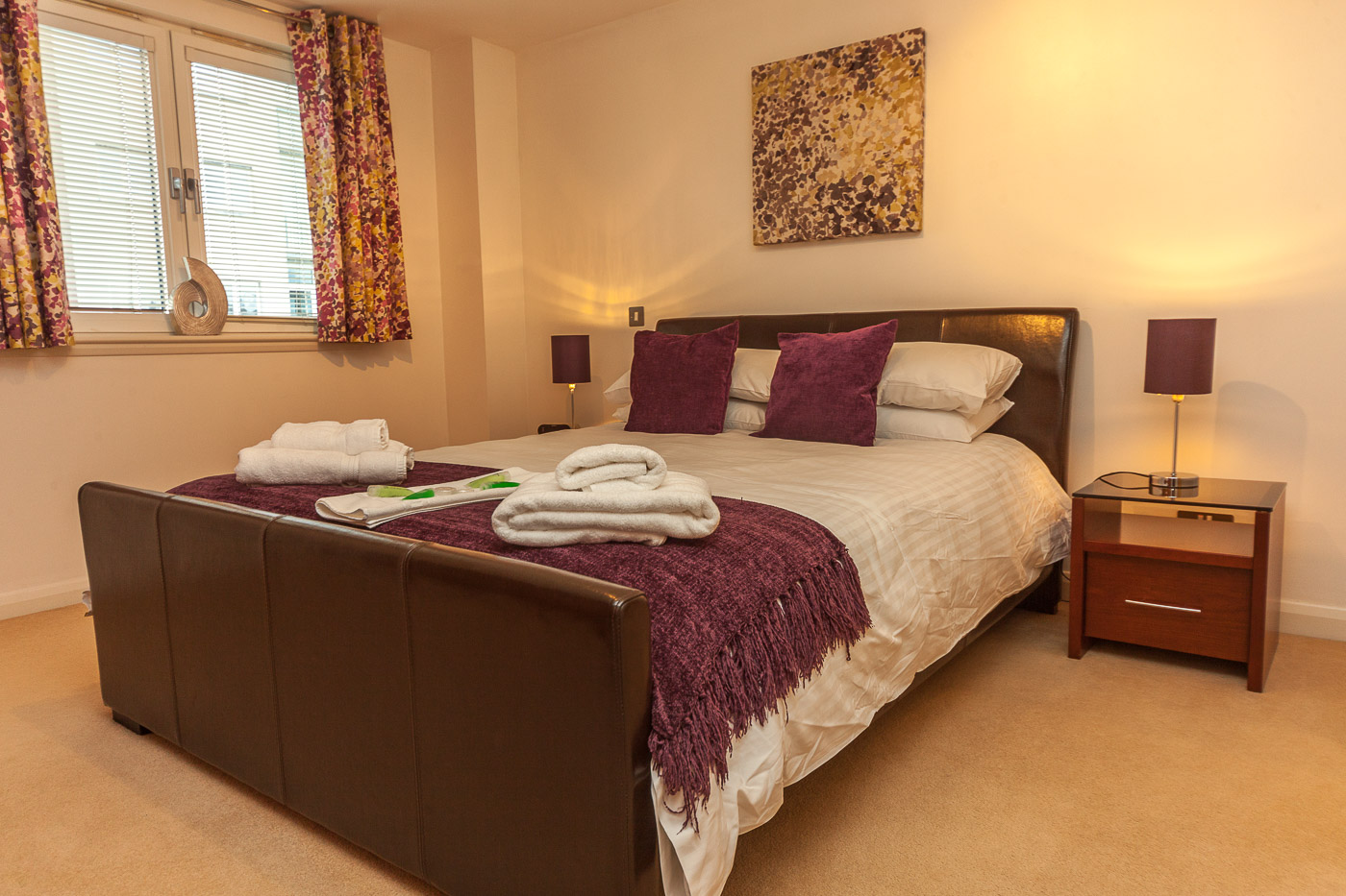 Double bedroom at Queens Highlands Aberdeen Apartment
