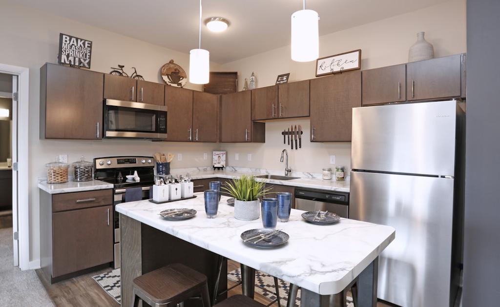 Kitchen at Park West 205 Apartment