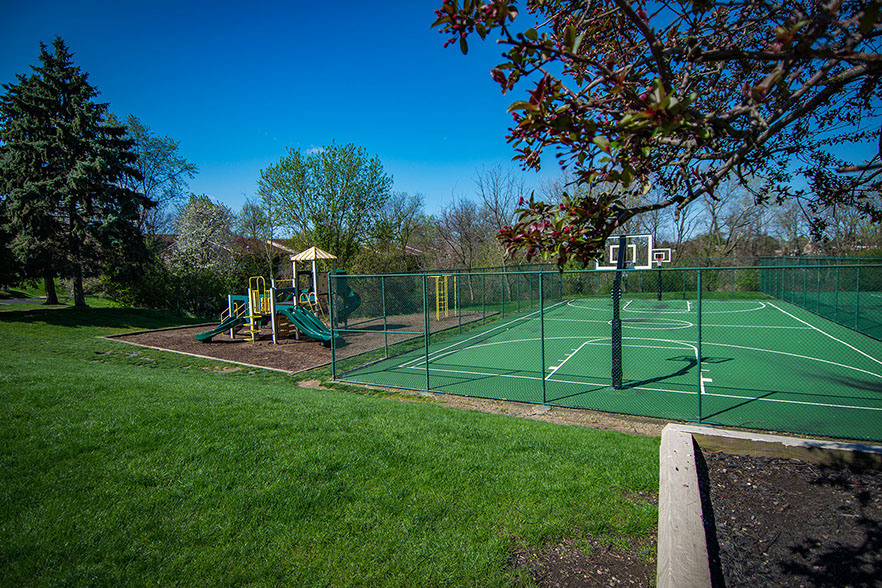 Tennis Court at Carriage Park Apartments