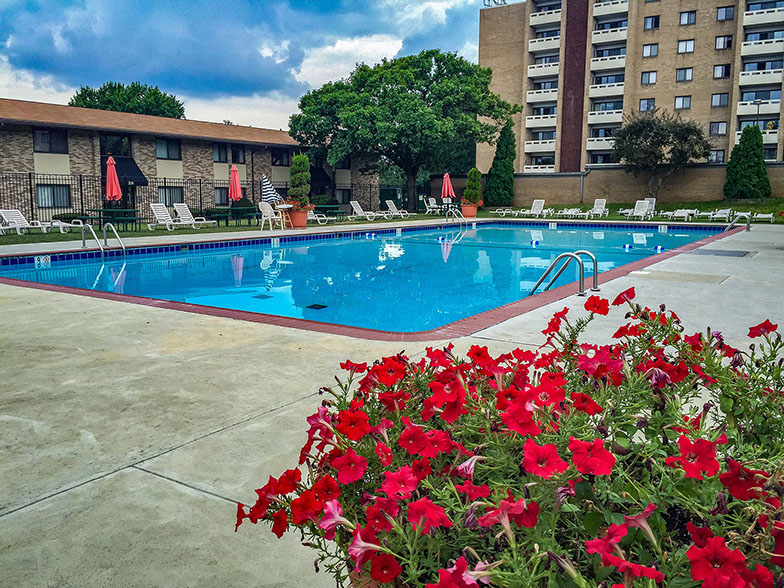 Pool at Carriage Park Apartments
