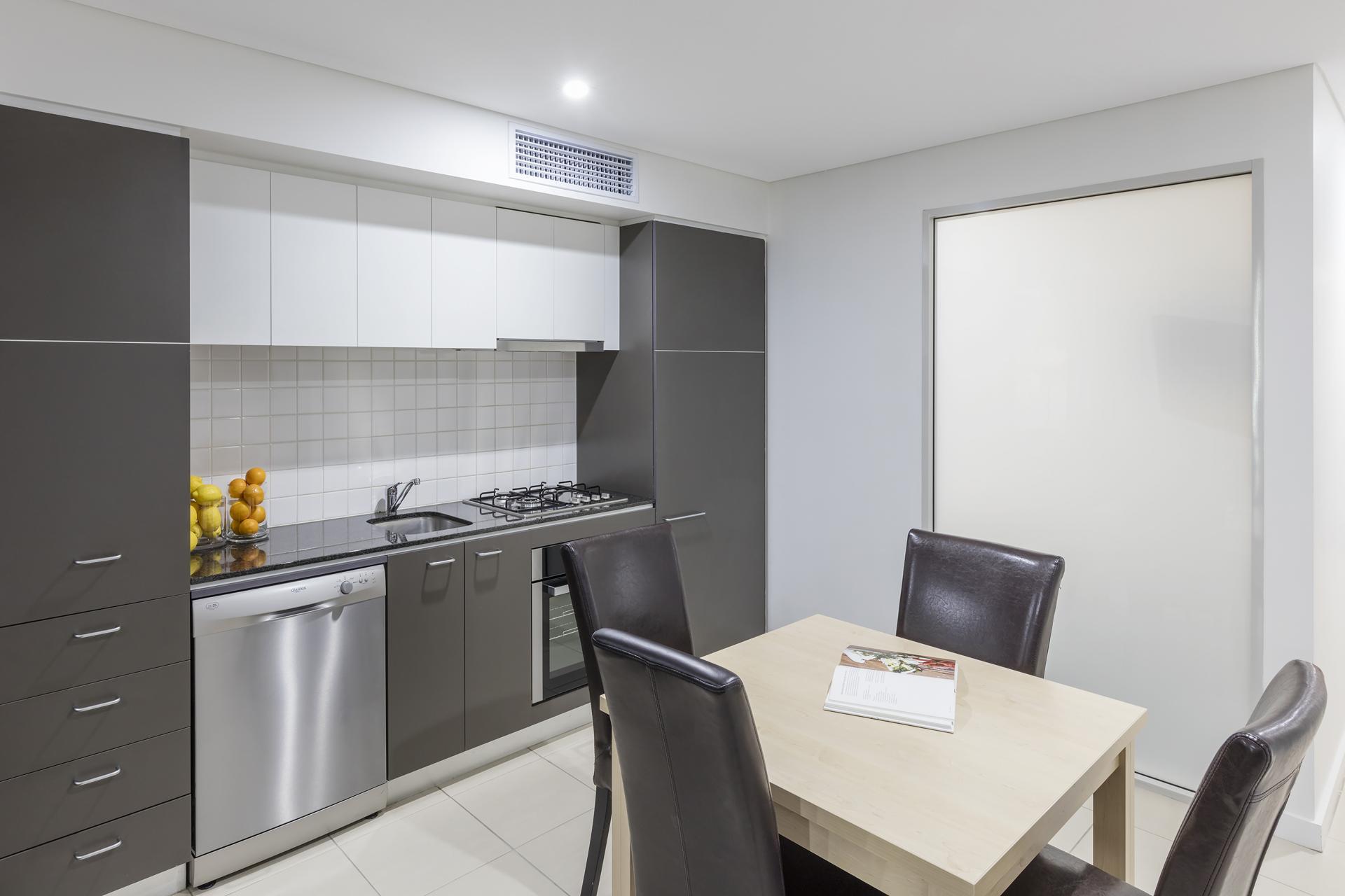 Kitchen at Oaks Adelaide Embassy Suites
