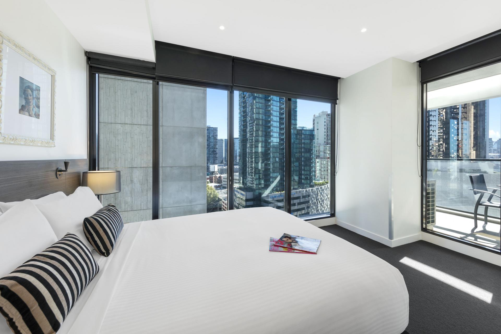 Bedroom at Wrap Southbank Apartments