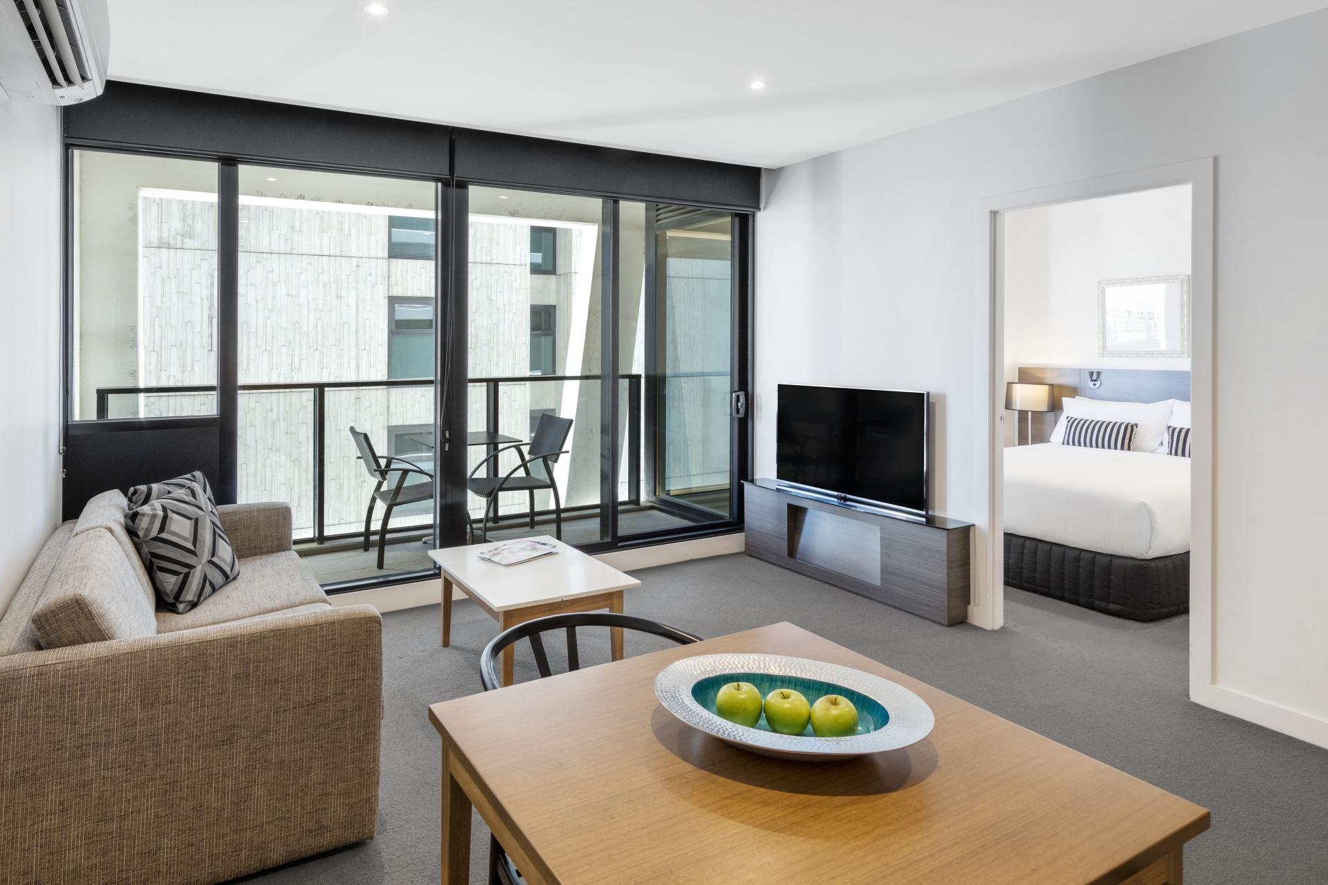 TV at Wrap Southbank Apartments