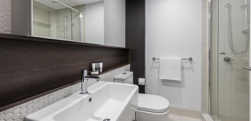 Bathroom at Oaks Melbourne Southbank Suites