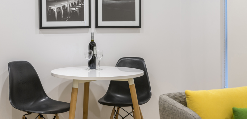 Dining table at Oaks Melbourne Southbank Suites