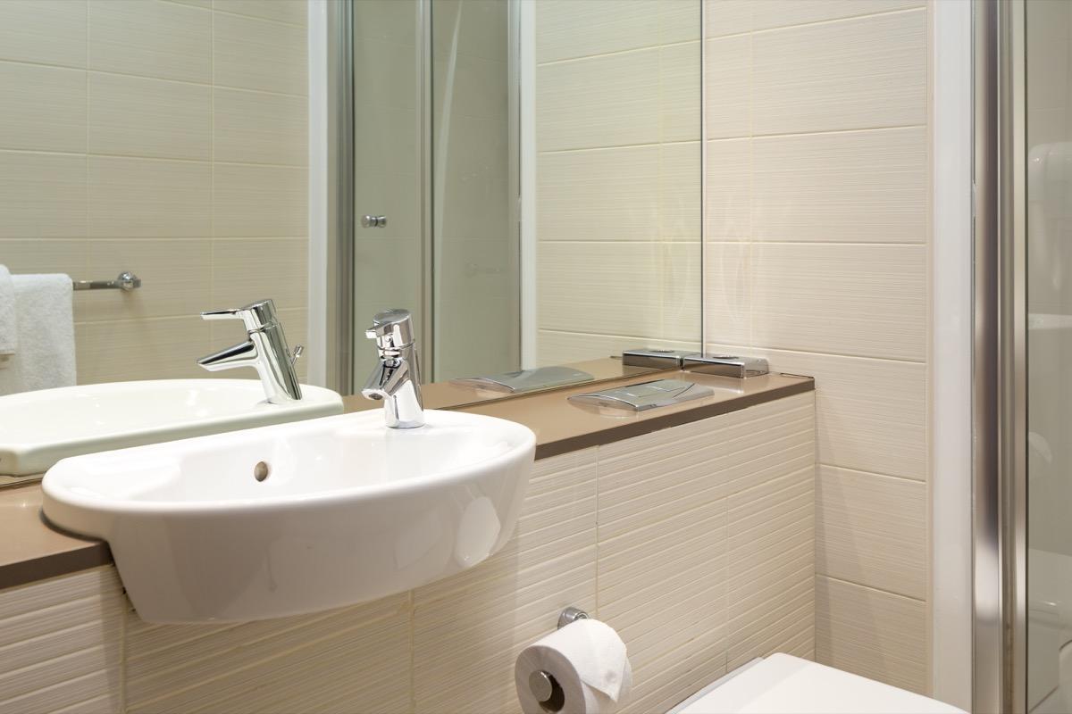 Bathroom at Roomzzz Leeds City Apartments