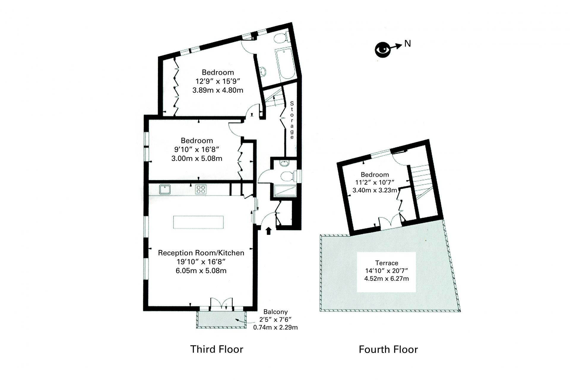 Floor plan at White Hill 5 Apartment