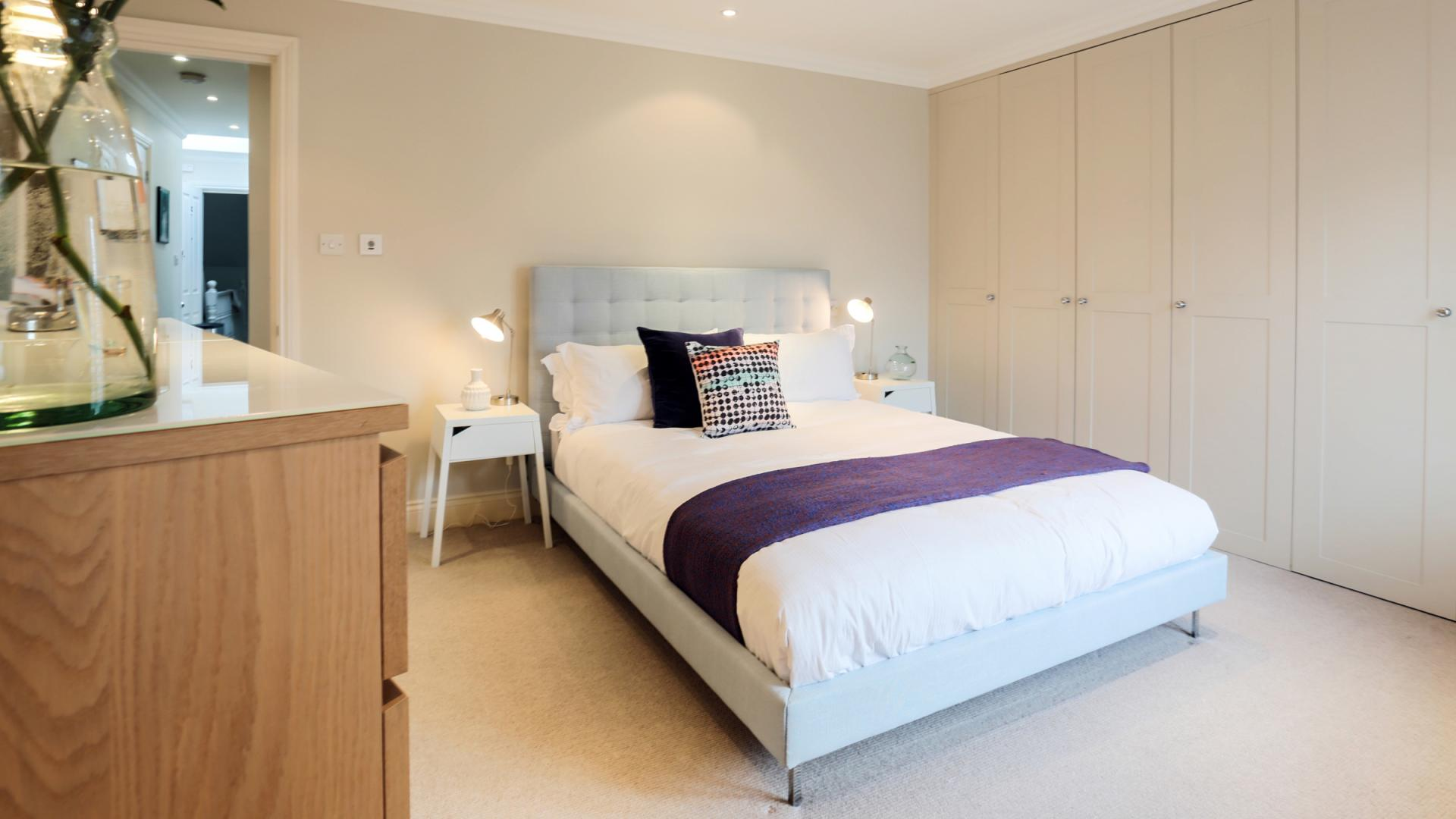 Comfortable bedroom at White Hill 5 Apartment