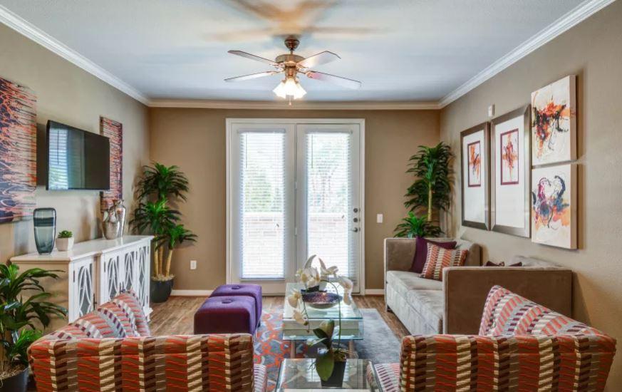 Living room at San Paloma Apartment