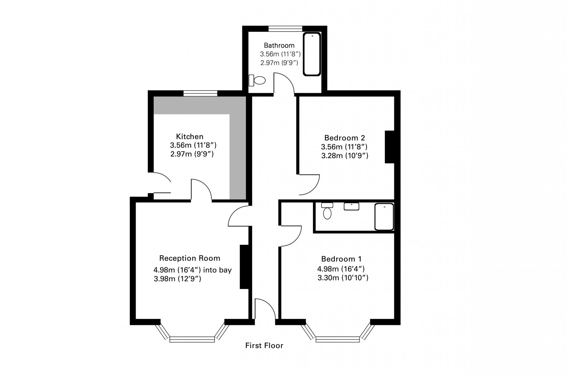 Floor plan at Byrne Garden 1 Apartment