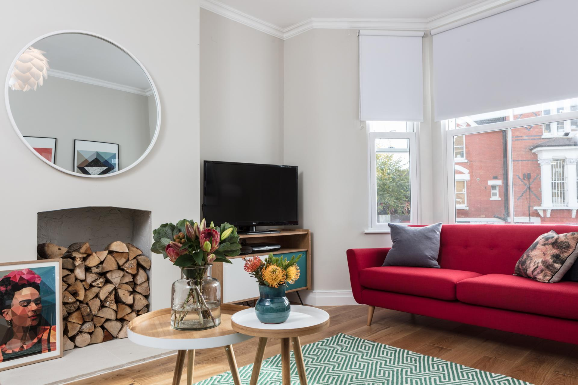Stylish living area at Byrne Garden 1 Apartment
