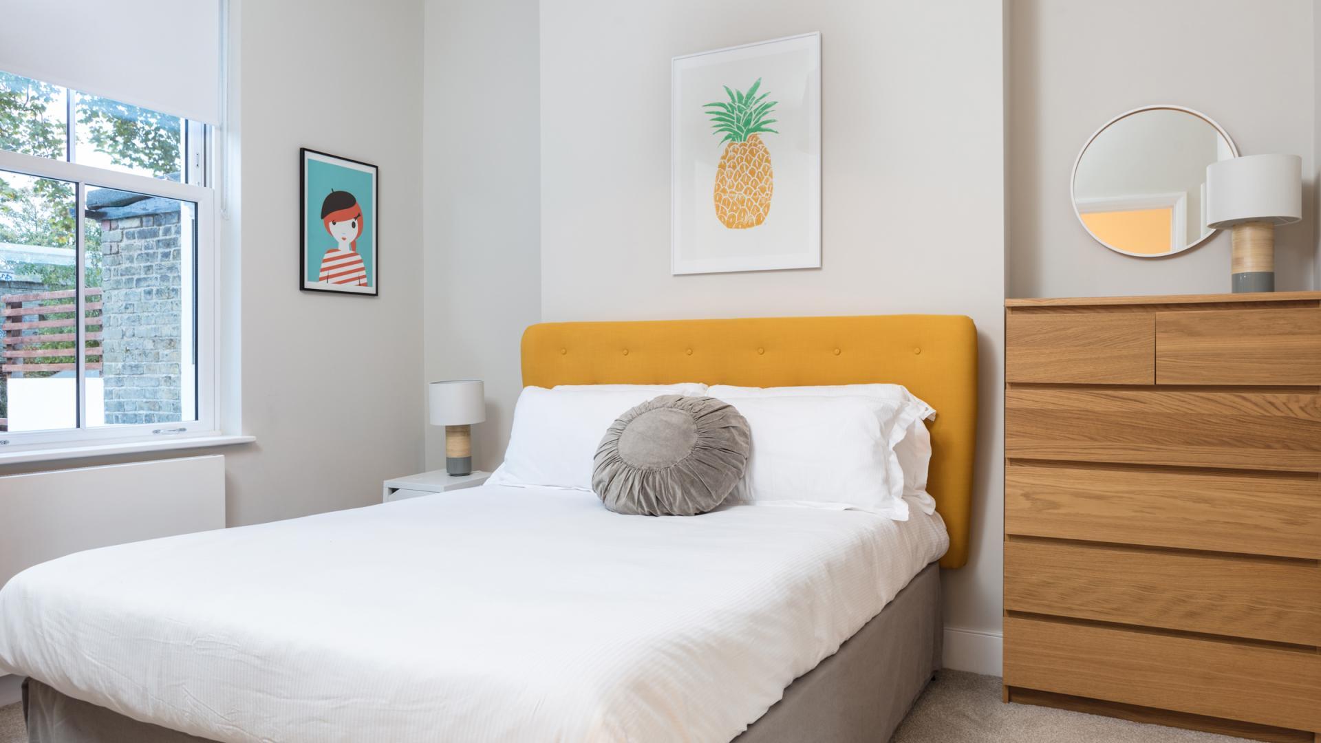 Modern bedroom at Byrne Garden 1 Apartment