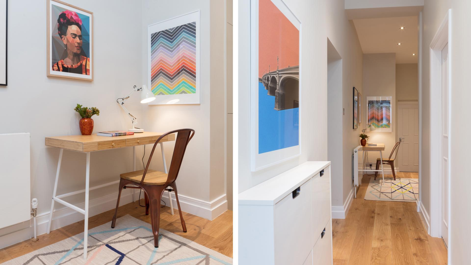 Desk area at Byrne Garden 1 Apartment