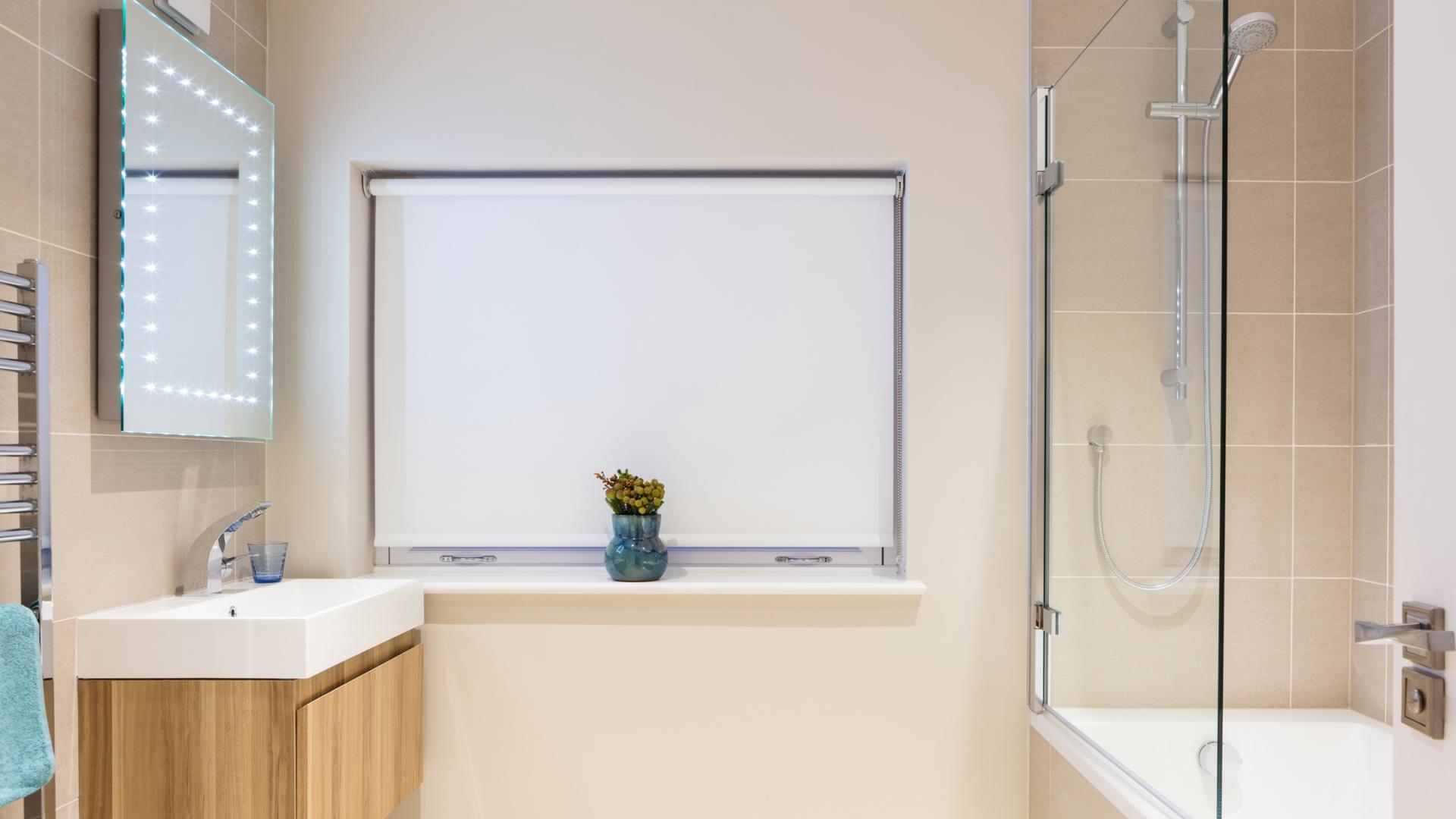 Modern bathroom at Byrne Garden 1 Apartment