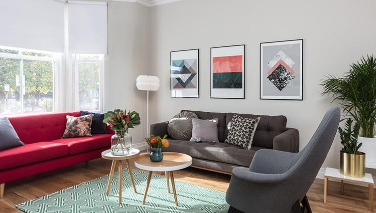 Living room at Byrne Garden 1 Apartment
