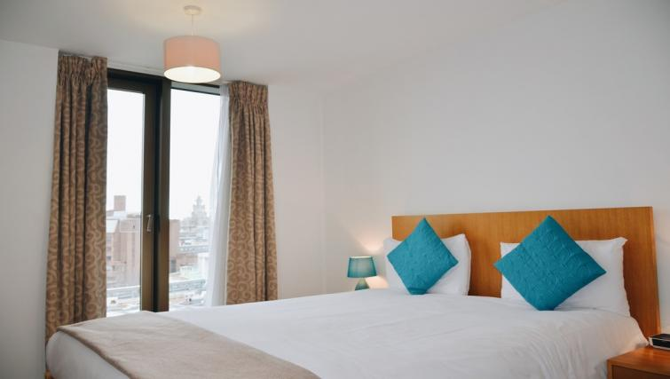 Double bed at Liverpool One Apartments