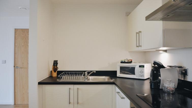 Equipped kitchen at Liverpool One Apartments