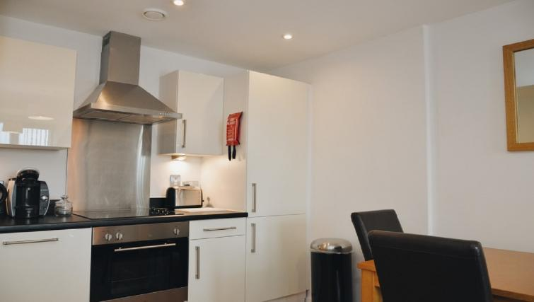 Modern kitchen at Liverpool One Apartments