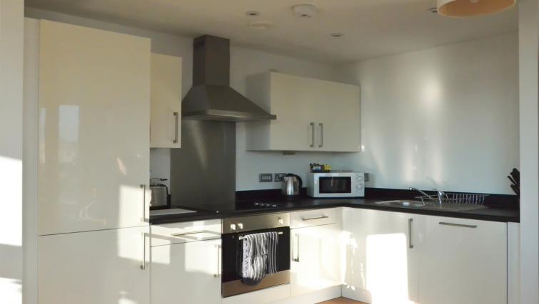 Bright kitchen at Liverpool One Apartments