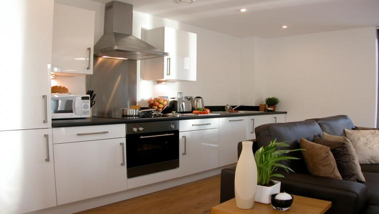 Kitchen at Liverpool One Apartments