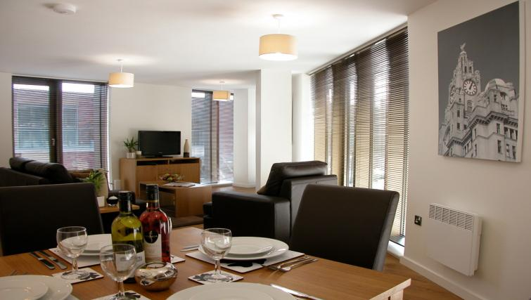 Dining area at Liverpool One Apartments
