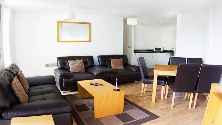 Living/dining area at Liverpool One Apartments