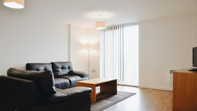 Bright living area at Liverpool One Apartments
