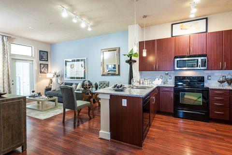 Kitchen at Broadstone Memorial  Corporate Housing