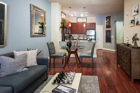 Living Room at Broadstone Memorial  Corporate Housing