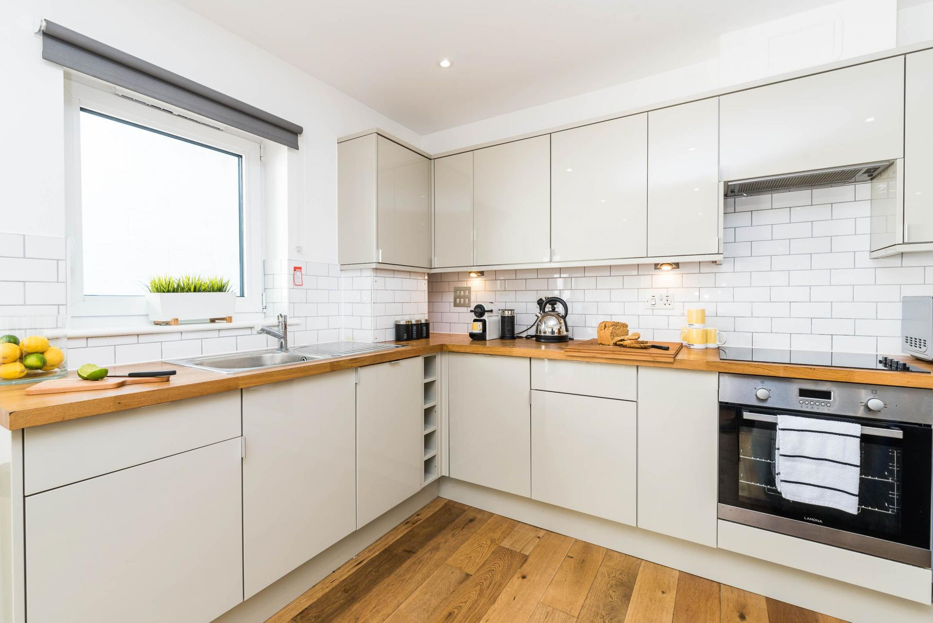 Kitchen at Vibrant Vauxhall Apartments