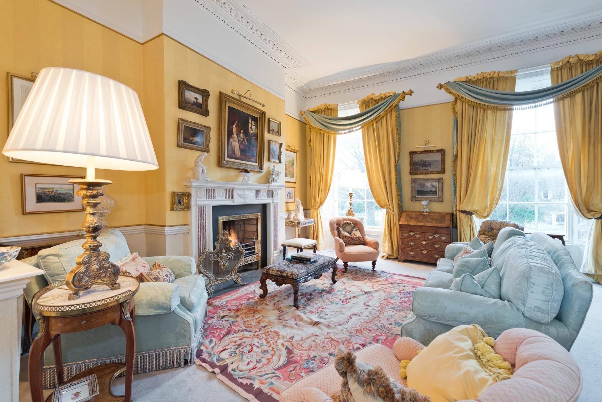 Living room at Elegant Ballsbridge Apartments