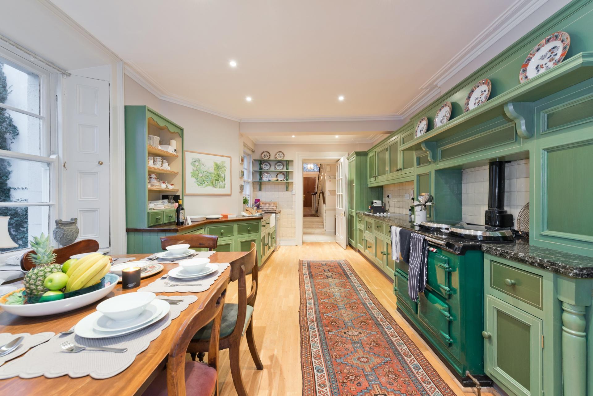 Kitchen at Elegant Ballsbridge Apartments