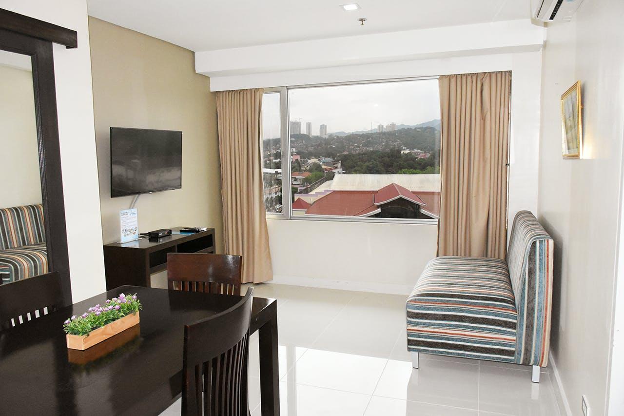 Living room at Alicia Apartelle Apartment