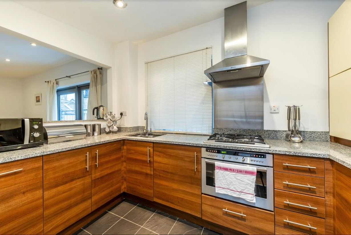 Kitchen at Steward Street Apartment