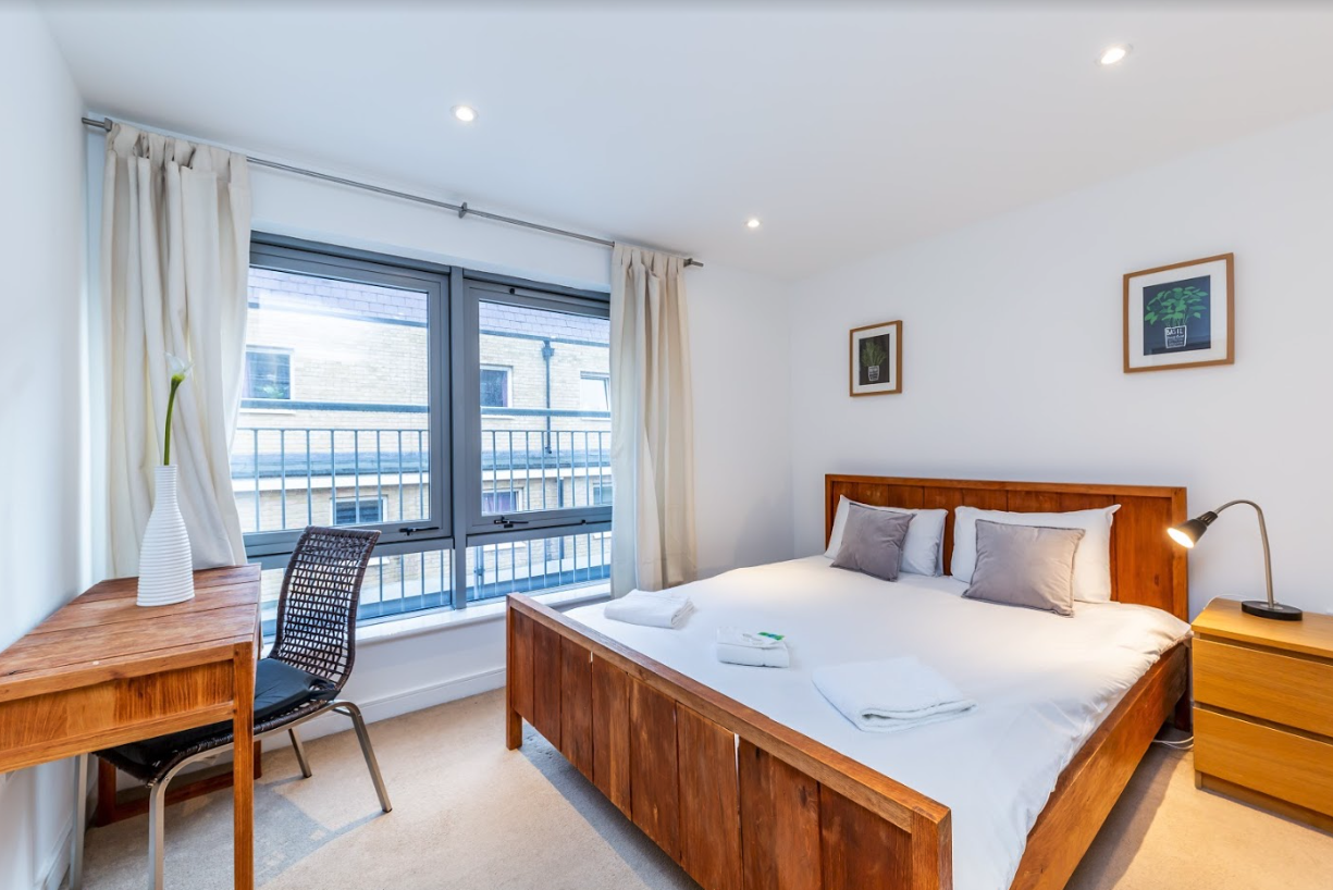 Bedroom at Steward Street Apartment