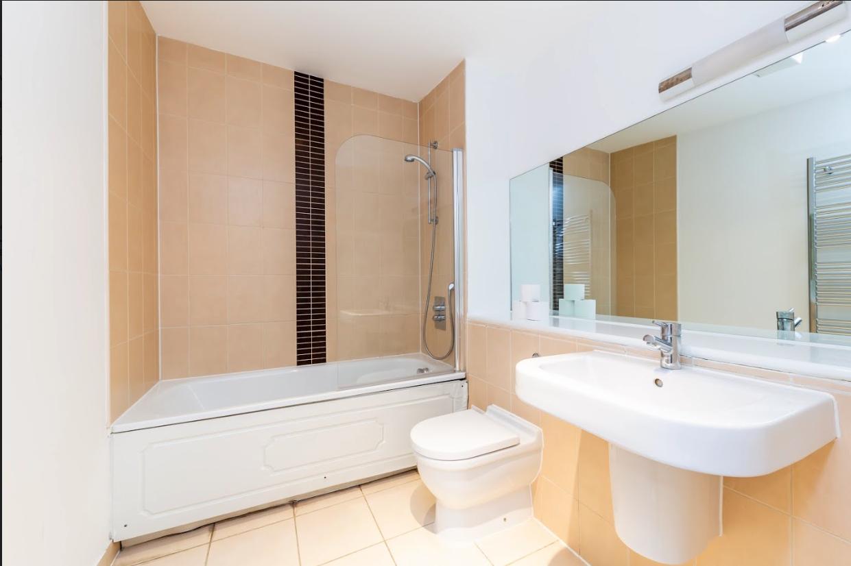 Bathroom at Steward Street Apartment