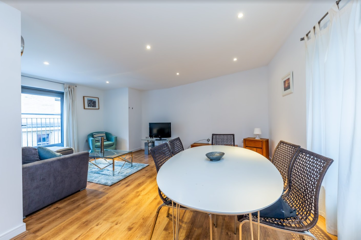 Dining area at Steward Street Apartment