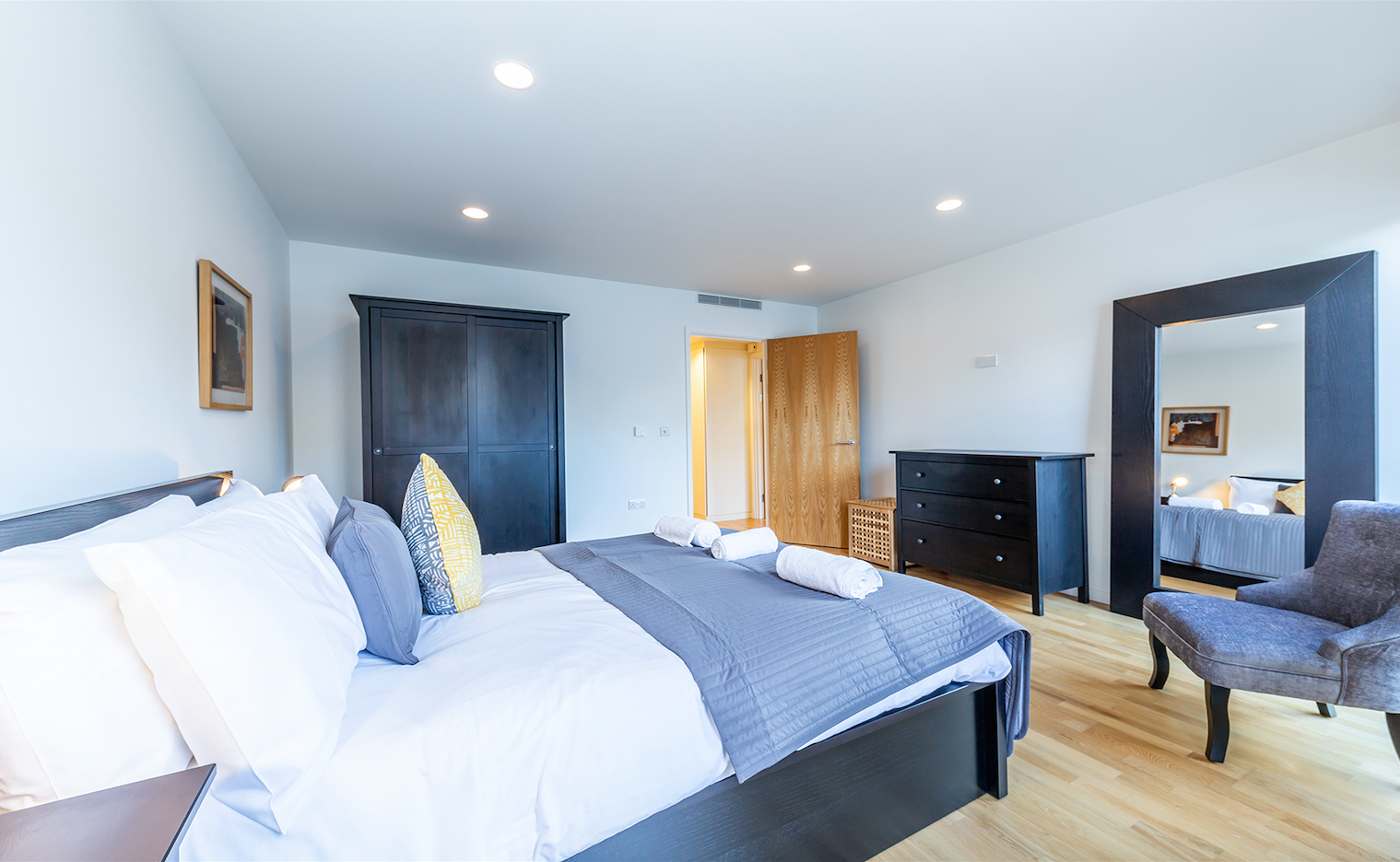 Bedroom at Delancey Street Apartments