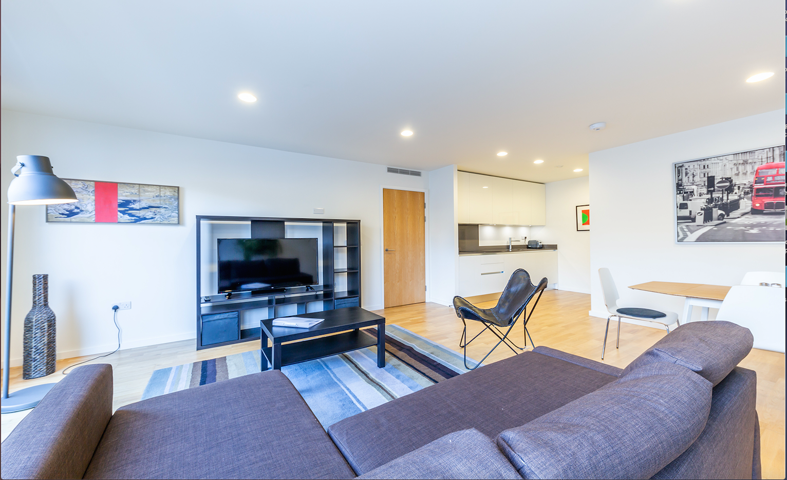 Lounge at Delancey Street Apartments