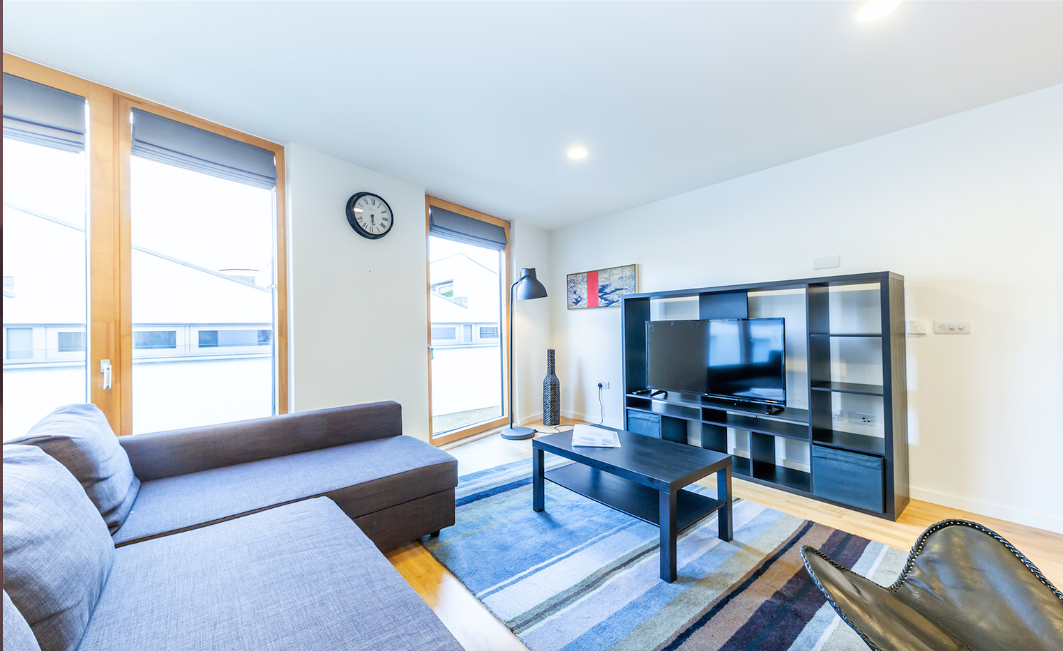 Bright lounge at Delancey Street Apartments