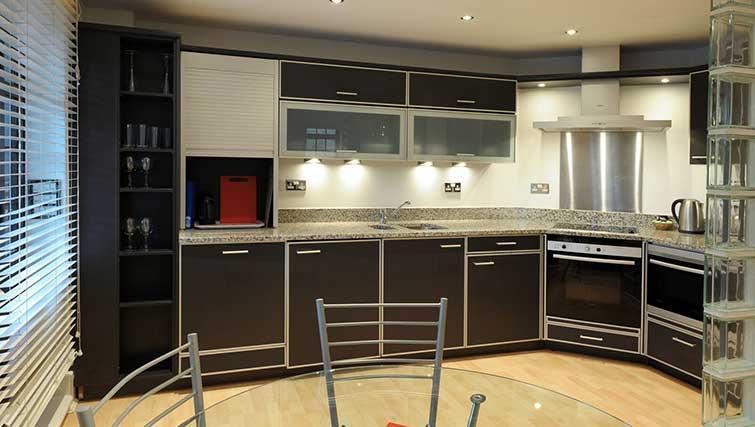 Equipped kitchen at Blake Mews Apartments